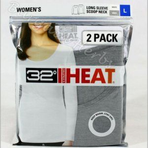 Women's 32 Degree HEAT Base Layer Long Sleeve 2 PK